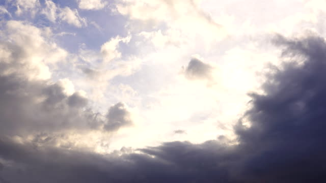 4K: clouds at sunset