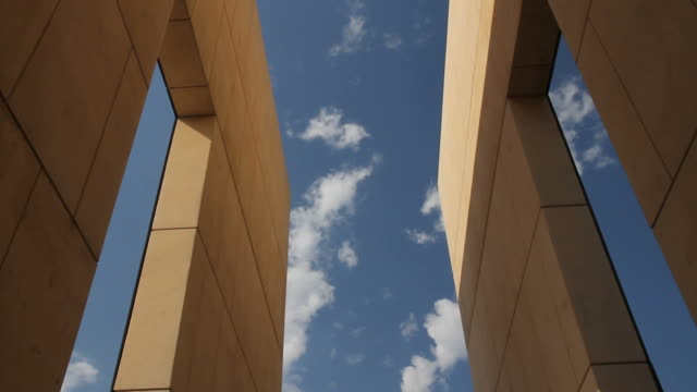 clouds at the oklahoma city bombing memorial - alfred p. murrah federal building stock videos & royalty-free footage