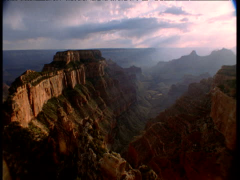 "vidéos et rushes de clouds billow over grand canyon at sunset, arizona - ""bbc natural history"""