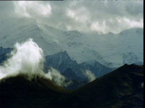 clouds billow over southern alps, south island, new zealand - new zealand southern alps stock videos & royalty-free footage