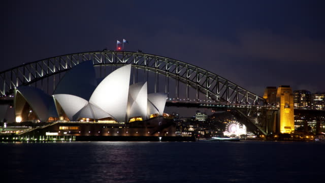 Clouds blow over Sydney Opera House
