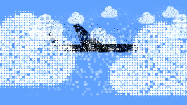 AIRPLANE : clouds, blue sky (LOOP)