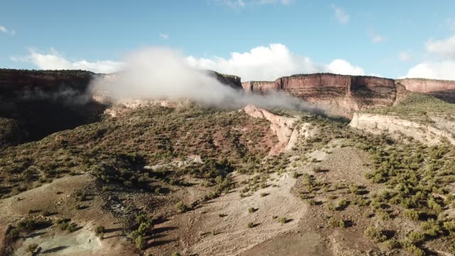 clouds canyons of sandstone - sandstone stock videos & royalty-free footage