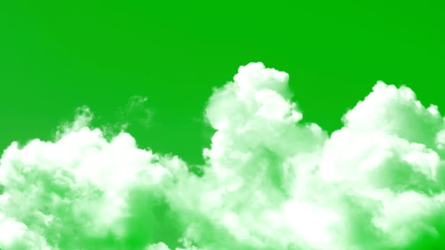 clouds chroma key - green colour stock videos & royalty-free footage