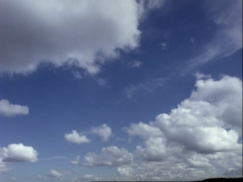 t/l clouds - clouds move right to left away from camera, no horizon - 1994 stock videos and b-roll footage