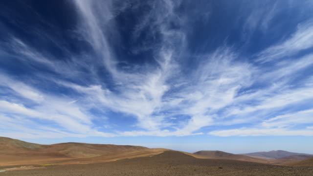 Clouds Drift in Blue Sky
