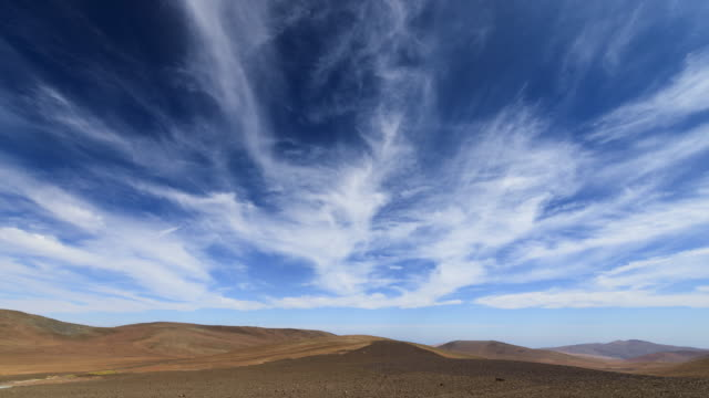 clouds drift in blue sky (fast) - cerro paranal stock videos and b-roll footage