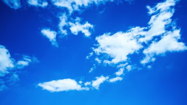 Wolken fliegen über den Himmel Zeitraffer