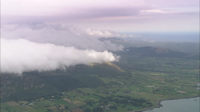 clouds formimg over mourne mountains - ulster province stock videos & royalty-free footage