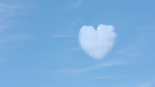 Clouds forming a heart shape