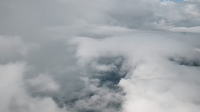 clouds from aerial view 4k footage - ozone layer stock videos & royalty-free footage
