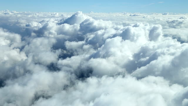 clouds from airplane window