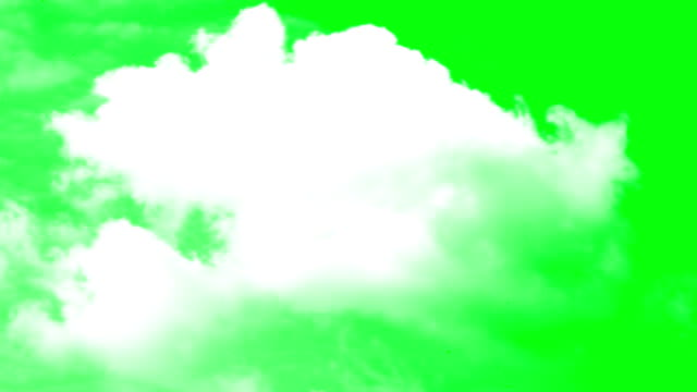 vídeos de stock e filmes b-roll de clouds green screen background - green