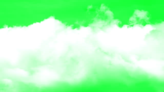 vídeos de stock e filmes b-roll de clouds green screen background - nevoeiro
