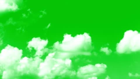 vídeos y material grabado en eventos de stock de pantalla verde de las nubes - verde color