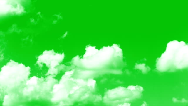 clouds greenscreen - nuvole video stock e b–roll