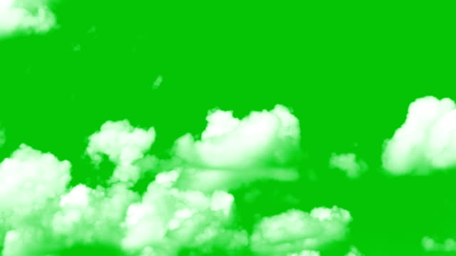 vídeos de stock e filmes b-roll de clouds greenscreen - chroma key