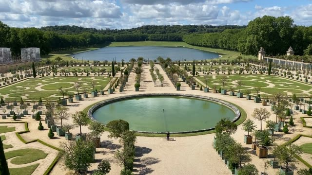 clouds hover over the gardens at the chateau de versailles as it is reopened to the public on june 06, 2020 in versailles, france. the palace has... - palace stock videos & royalty-free footage