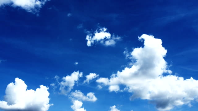 clouds in a blue sky - wispy stock videos and b-roll footage