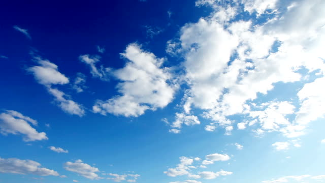 clouds in blue sky time-lapse - cumulonimbus stock videos & royalty-free footage