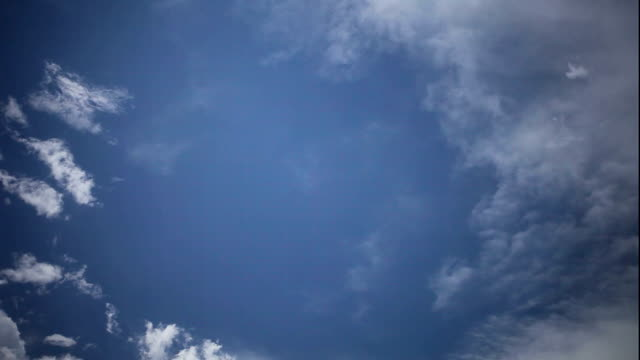 clouds in blue sky - steppe stock videos & royalty-free footage