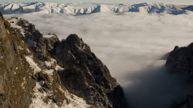 clouds in mountains - transilvania video stock e b–roll