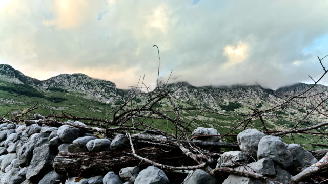 Clouds in the Albanian Alps Time Lapse