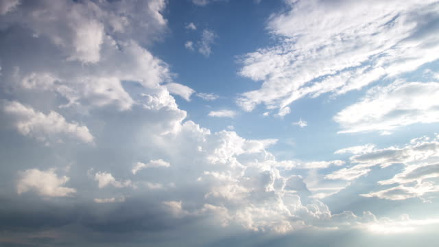 clouds in the blue sky timelapse