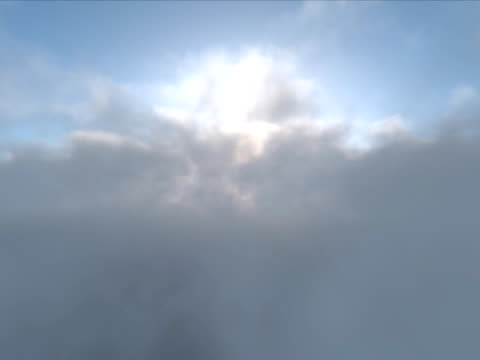 Clouds. Looped Animation