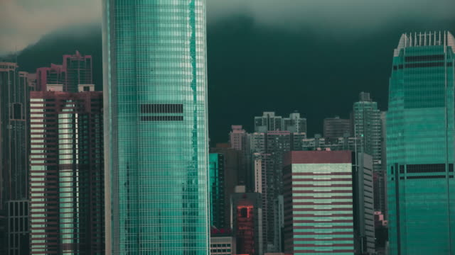 Clouds move through the skies of Hong Kong.