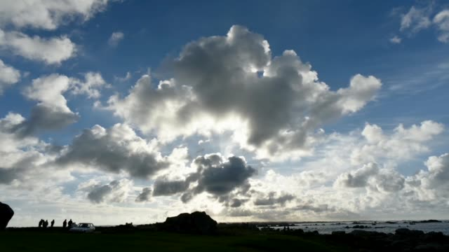 clouds moving inland, meneham, finistere - la manche stock videos and b-roll footage