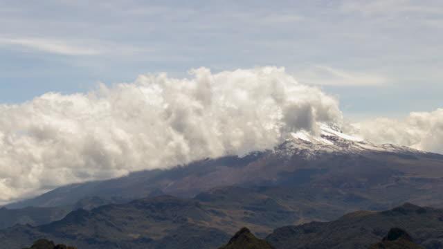 clouds moving over antisana volcano in the ecuadorian andes - ecuador stock videos & royalty-free footage