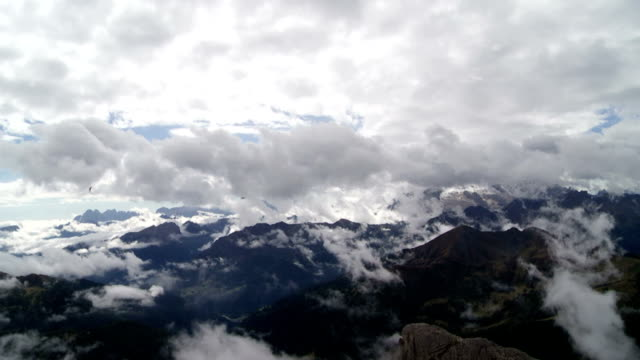 Clouds Moving Over Dolomites Mountains PAN TL