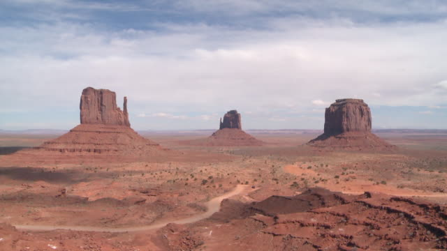 Clouds moving over Monument Valley, U.S.A.