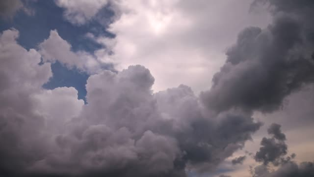clouds moving - fast motion time lapse stock videos & royalty-free footage