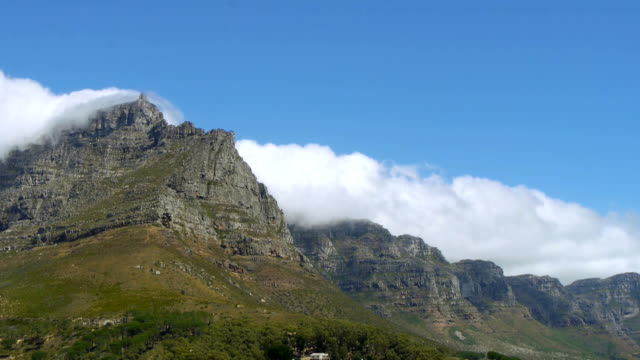 clouds on table mountain, south africa