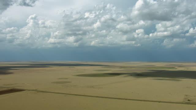 Clouds Over Arid Farmland In Texas