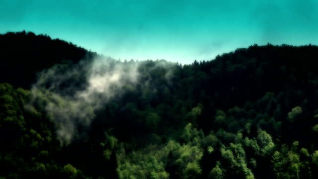 hd: clouds over hill - abstract - cartoon p stock videos & royalty-free footage