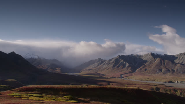 """clouds over mountain, alaska. - """"bbc natural history"""" stock videos & royalty-free footage"""