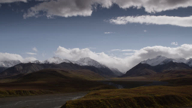 """clouds over mountains, alaska. - """"bbc natural history"""" stock videos & royalty-free footage"""