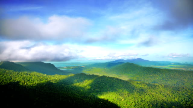 clouds over mountains - langkawi stock videos and b-roll footage