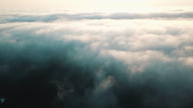 clouds over ocean at cabo da roca. - roca video stock e b–roll