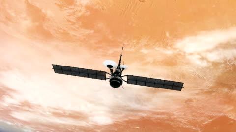 vídeos y material grabado en eventos de stock de nubes sobre marte. - misión espacial