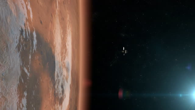 stockvideo's en b-roll-footage met wolken boven de planeet mars. - colony