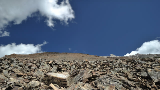 TL Clouds over scree slope, Canada