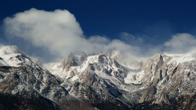 clouds over sierra nevada mountains - californian sierra nevada stock videos and b-roll footage