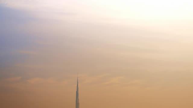 clouds over the burj khalifa - burj khalifa stock videos & royalty-free footage
