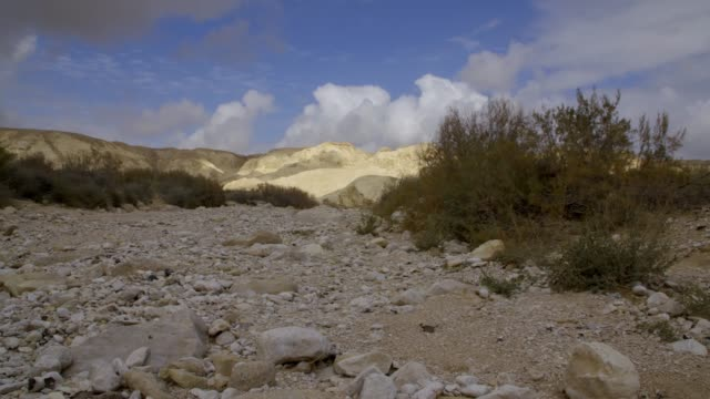 clouds over the desert - negev stock videos & royalty-free footage