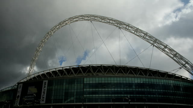 T/L clouds over the new Wembley Stadium, exterior, London