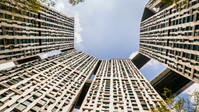 clouds over the pinnacle duxton - pinnacle stock videos and b-roll footage